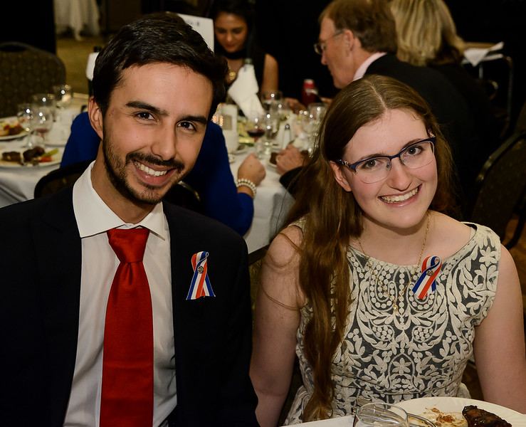 Youth recipients Jaxon Khan and Lauren MacDonald shortly after receiving their RYIA awards for meritorious work in Youth Programs