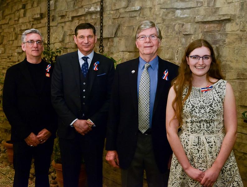 L-R Paul Dowsett (Business Award recipient); Tom Mihalik (Lifetime Achievement);  Ted Swanston (Individual Award Recipient); Lauren MacDonald (under 18)