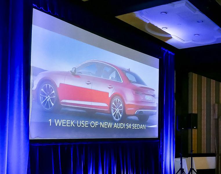 3) free 1 week use of a Luxury Audi S4 sedan .....