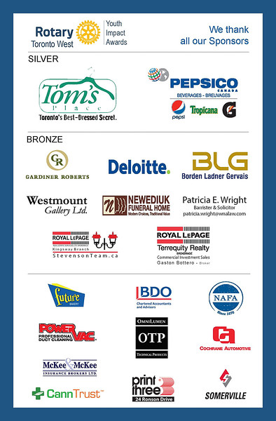 And a big thanks for the terrific support from all our Corporate Sponsors.