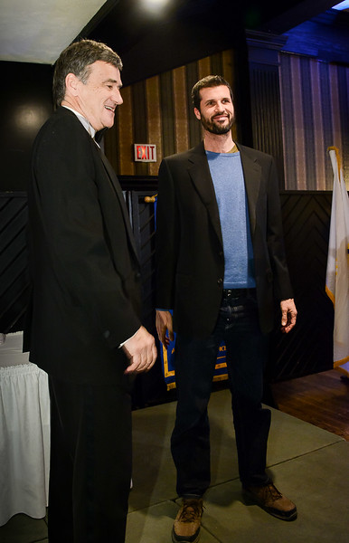 """Two """"Too Tall Guys""""  - they were helping wth the raffle draws - when tickets are sold by the """"extended arm lengths -  tip to tip""""  you start look for them! Both over 6' 6"""" tall"""