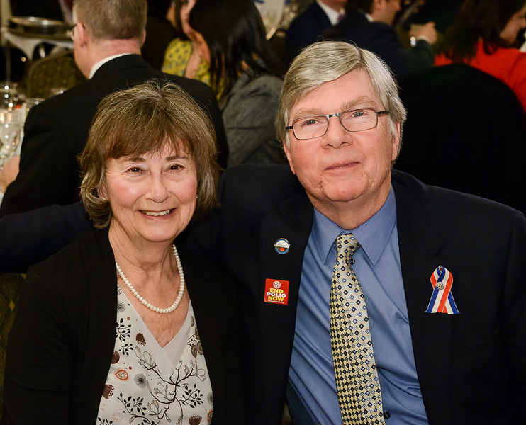 "Recipient Ted Swanston with his wife Carol - both active in supporting ""Sleeping Children around the  World"" which has been a former RYIA recipient  organization."