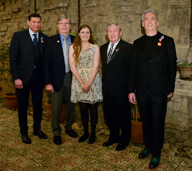 """Recipients as per last image, with Rotary Toronto West President Terry Donohue (2nd from right) For good reasons, some other recipients were late arrivals and missed this traditional """"line-up shot"""". Their photos follow later on."""