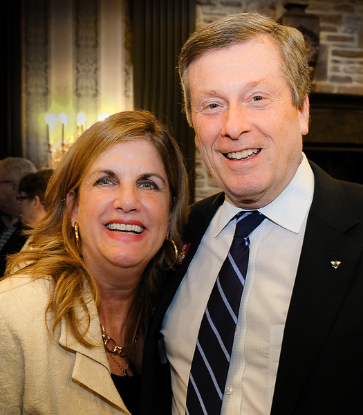 Mayor Tory had especially warm words of  recognition for our Lifetime Achievement Award Recipient Denise Bebenek  (L)