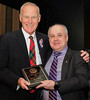 """Bruce Boyd accepting the """"Individual"""" Award for a long career in teaching, coaching and mentoring youth."""
