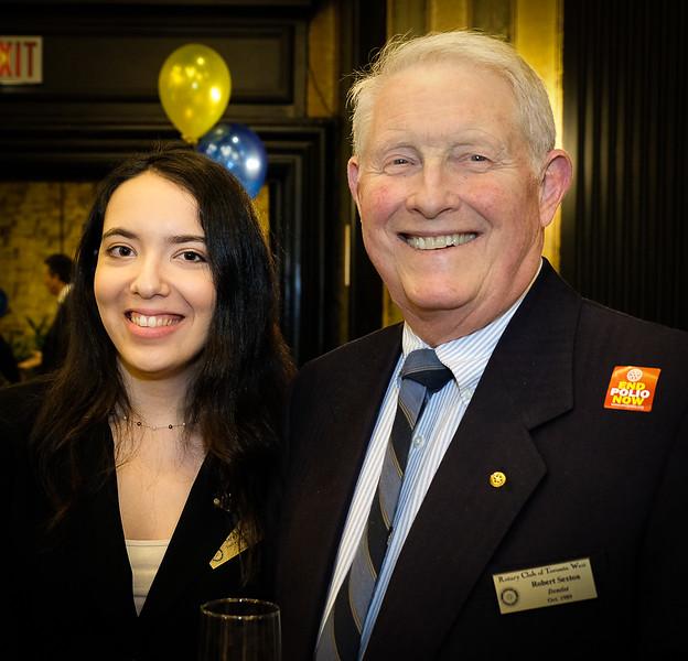 Recent new RTW member Sarah D'Aversa with club member Bob Sexton
