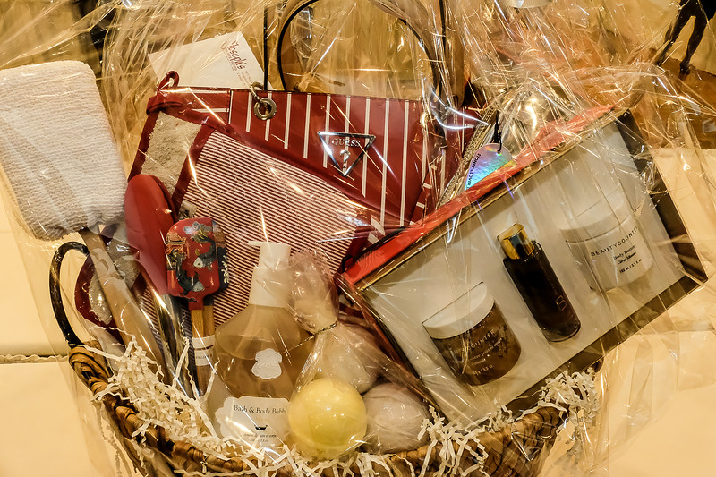 """A """"For the Ladies"""" Theme raffle basket"""