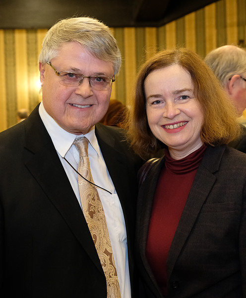 Missing from previous photo of table guests ... Mark Phemister with his wife Dr. Donna Smythe.