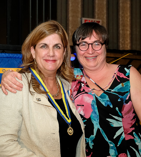 Mary Lou presented Denise with a Paul Harris Fellowship certificate, lapel pin and a medallion.
