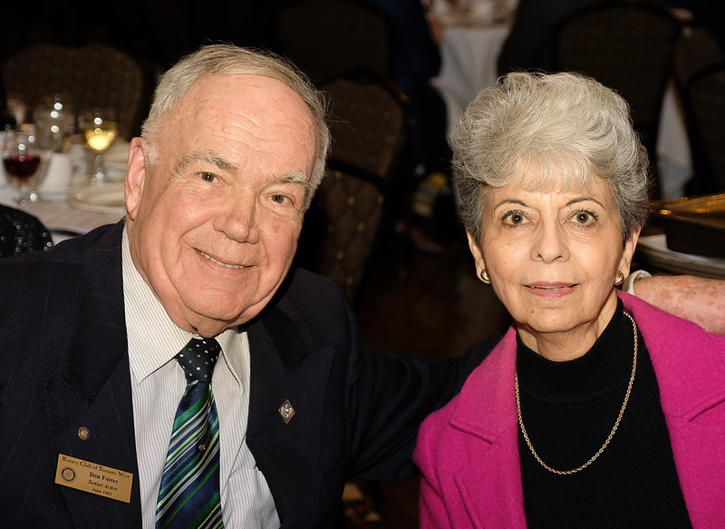 Our esteemed RTW member Don Foster with table guest Mary Ann Robertshaw