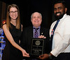 """Taylor Jennings and Dhakshan Ravibalan of the """"YMCA of Greater Toronto - Summer Day Camps"""" accepting the Community Organization award."""