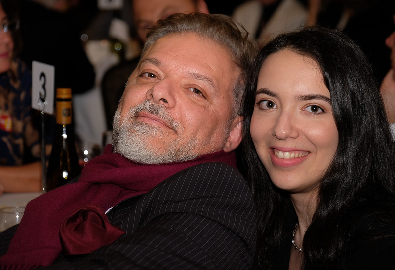 Tony D'Aversa with daughter Sarah, who joined our club last fall while pursuing grad studies at University. Sarah helped with the awards presentations on stage.