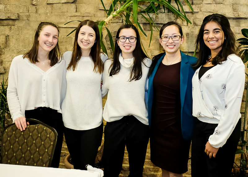 """A few of the 30+  volunteers that came out to provide invaluable support throughout the evening.    Weiting Xu in the blue jacket was the 2014 recipient of the """"Under 25 Individual Award"""" for her leadership roles at York University to inspire students, a role which she still continues."""