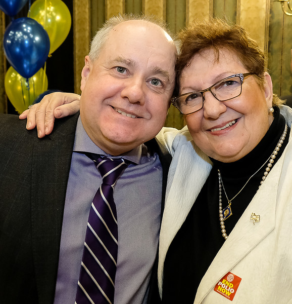 RTW President Stephen Thiele with long standing Rotarian Lynda Ryder, a past Rotary 7070 District Governor, and one who has held many other senior Rotary positions through the years.