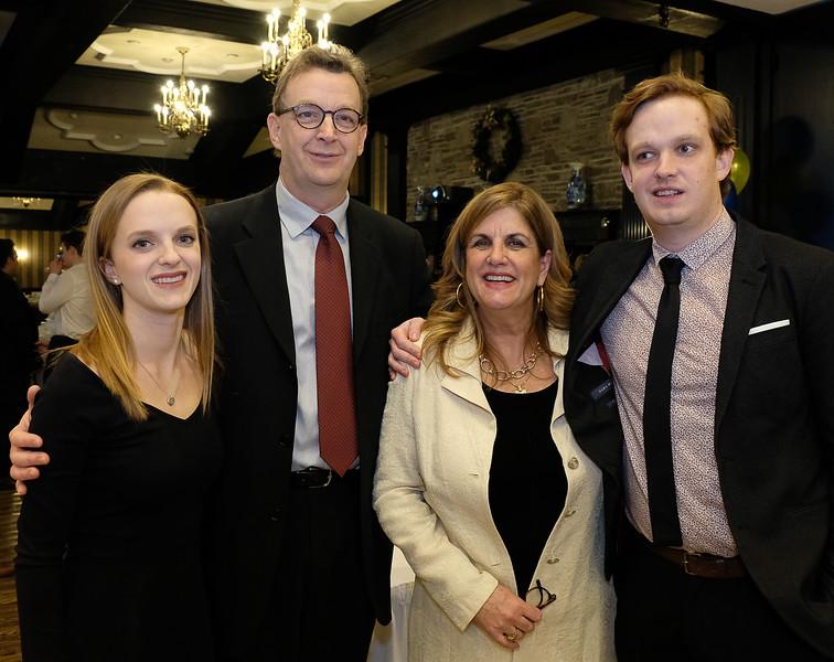 Denise Bebenek with family: Sarah Grace B, husband  Kevin B, and son Matthew B