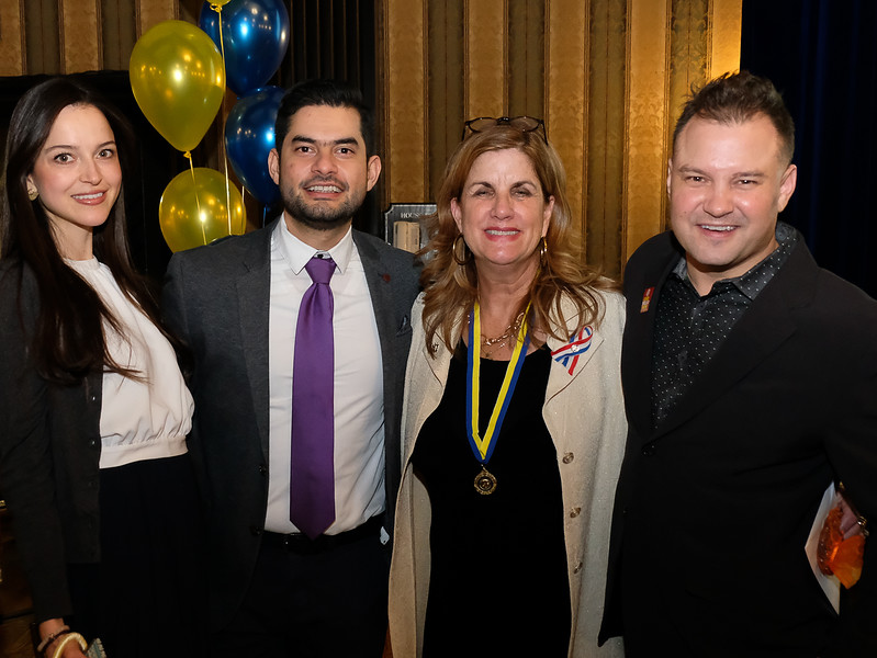 (L-R)  Tatiana with Alan Sifuentes, Denise B and Jamie Thompson of Adapt Media, a long time supporter of Meagan's walk