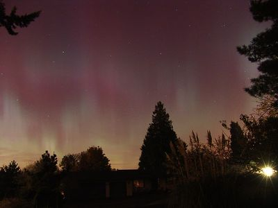 Aurora Borealis over Seattle, Washington