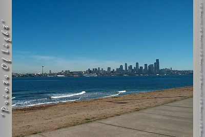 Downtown Seattle as seen from the beach at Alki Point.  I still marvel at how crisp the air was that day!