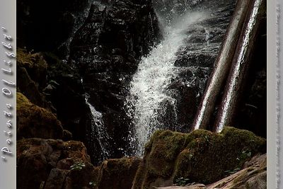 A small portion of Ranger Falls, about a mile up the trail on the way to Green Lake in Mount Rainier National Park.