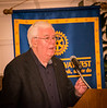 Rotarian Willis Rudy addressing guests