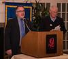 Rotarians: MC Bruce Gillies and Box Sexton