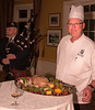 Lambton GGC Chef John Kieback proudly presents the traditional haggis.