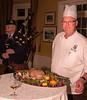 Lambton GGC Chef John Kieback proudly presents the traditional haggis.