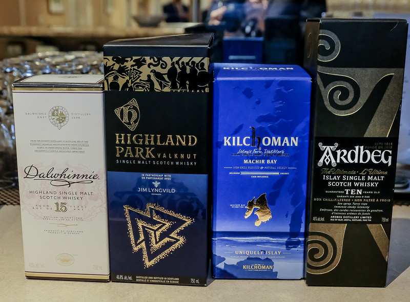 A few of the scotches being offered this evening