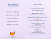 The evening's Scotch and Dinner menu