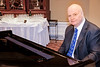 Rotarian Ron Manfield welcomed guests at the keyboard, as always.