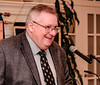 Emcee John McLellan kept the evening proceeding on a tight schedule.