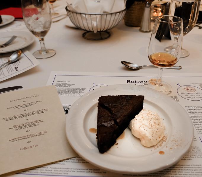 Warm sticky toffee pudding with Scotch cream. Mmm...