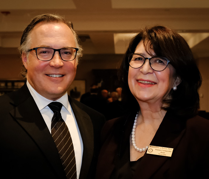 Bruce Gillies, Emcee  for the evening, and Jeanne Cornacchia, Event Chair