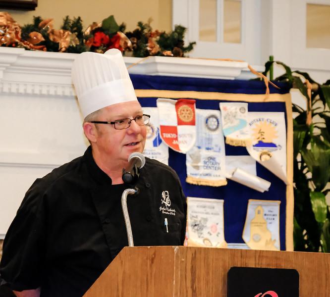 Chef John Kieback discusses the menu he has prepared for us.