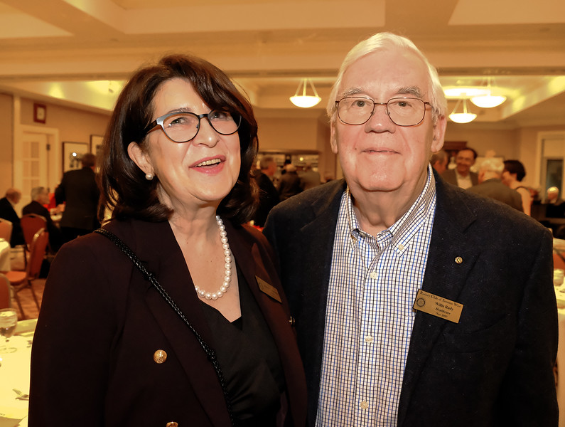 Jeanne with fellow Rotarian Willis Rudy