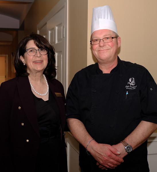Jeanne with Lambton Golf Club Chef John Kieback
