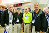 Rotary Etobicoke members Ron Miller and Jack Fleming, flanked by our RTW members Leighton R and Brian S