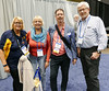 Rotary Toronto West members Patti Wright, Susan McCoy and Paul Collier (far right) - all Past Presidents, with Neil Philips - 7070 District Governor.