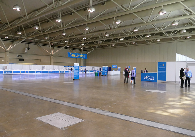 Registration hall now empty as most have signed in