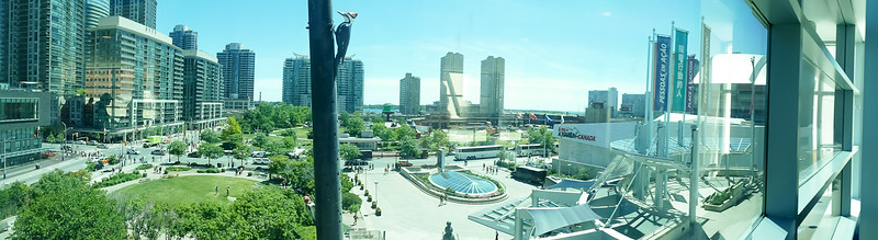 View from the MTCC looking south to Lake Ontario in the distance.