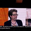 Continued:  6 minute clip of Caryl Stern's talk on UNICEF