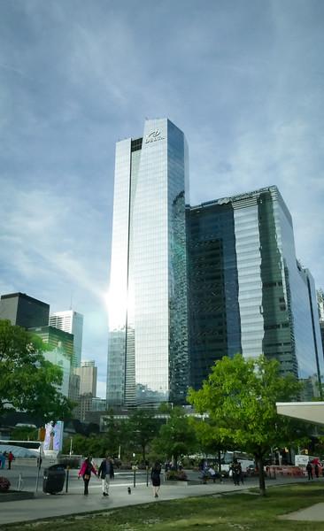 View towards city center.