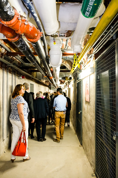 Touring the network of tunnels that have been refurbished and continue to provide services to the numerous buildings.