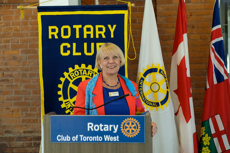 Susan McCoy of Rotary Toronto West club gave a few welcoming remarks.