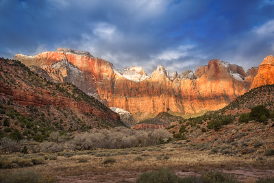 The Altar of Sacrifice in Winter, Zion National Park