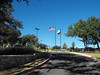 The flags and flagpoles are a gift from the Rotary Club of Canyon Lake. <br /> (photo taken by David Jacobson)