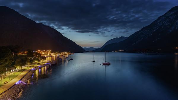 Evening Promenade at Mountain Lake