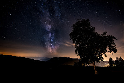 Milky Way over Swiss Mountains