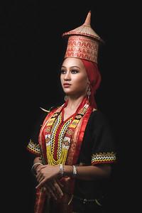Ara in Bidayuh costume