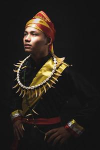Mahek in Melanau costume